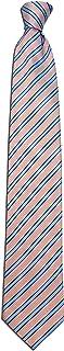 Remo Sartori - Cravatta In Pura Seta A Righe Azzurre, Made In Italy, Uomo