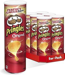 Pringles Original | Gesalzene Chips | Vegan | 6er Party-Pack 6 x 200g
