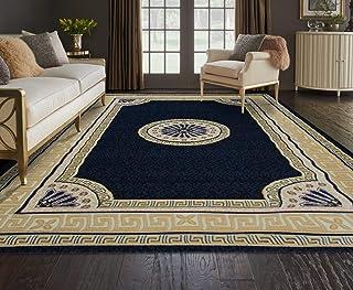 Al Salem Carpet Super Sabah Collection Carpet Classic Tradition Area Rug 045 CM X 070 CM Navy