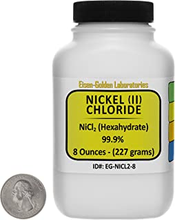 Nickel Chloride [NiCl2] 99.9% ACS Grade Crystals 8 Oz in a Space-Saver Bottle USA