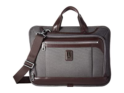 Travelpro Platinum(r) Elite Slim Business Brief (Vintage Grey) Briefcase Bags