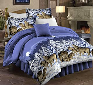 PDK/Regency Midnight Wolves Complete Bedding Set, Full