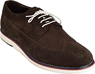 Levanse Synthetic Leather Matte Brown Corporate Casual Shoes/Sneakers for Men/Boys.