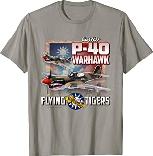 Aviation Tees: P-40 Warhawk Flying Tigers T-Shirt