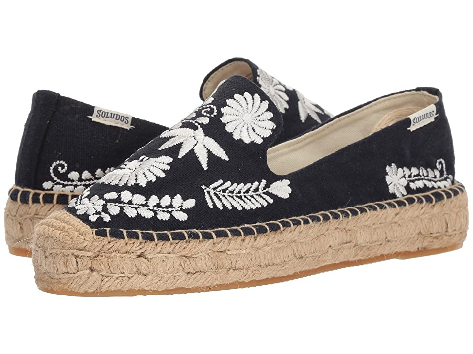 Soludos Ibiza Embroidered Smoking Slipper (Midnight Blue) Women's Slippers
