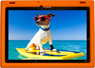 BobjGear Bobj Rugged Tablet Case for Lenovo 10 TB-X103F, Tab 2 A10-30 Kid Friendly (Outrageous Orange)