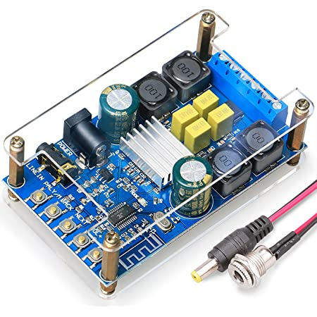 DAMGOO Bluetooth Amplifier Board,50w+50w 2 Channel Audio Amplifier Board Suitable for retrofit Speakers Bluetooth Speakers,Easy Installation and Password Free Connect to Phone with Protective Shell