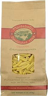 Montebello Organic Strozzapreti, Italian Macaroni, 16-Ounce Bag