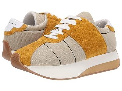 MARNI Retro Runner Sneaker (Ivory/Mustard) Men