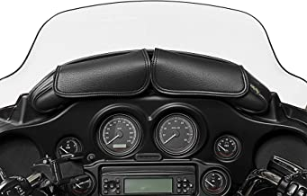 Dowco Willie & Max 04725 Two Pouch Synthetic Leather Motorcycle Windshield Bag: Black, 5 Liter Capacity