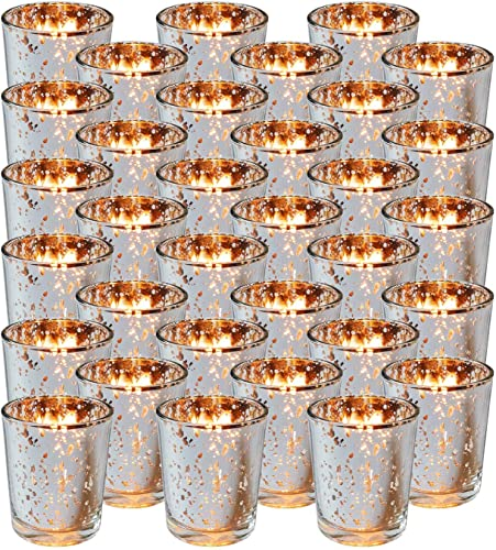 2021 Royal Imports Silver Mercury Glass Votive Candle Holder, Table 2021 discount Centerpiece Tealight Decoration for Elegant Dinner, Party, Wedding, Holiday, Set of 36 (Unfilled) online sale