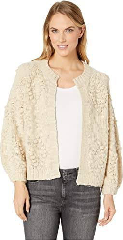 Bobble Diamond Cardigan Sweater