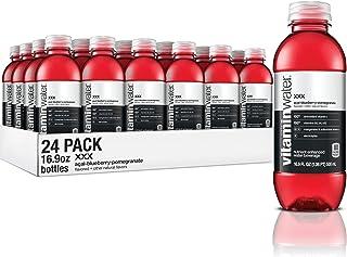 vitaminwater xxx, electrolyte enhanced water w/ vitamins, açai-blueberry-pomegranate drinks, 16.9 Fl Oz (24 Count)