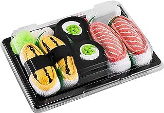 Rainbow Socks, Niñas Niños Calcetines Sushi Tamago Salmón Maki de Pepino - 3 Pares