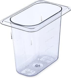 Carlisle 3068807 StorPlus Ninth Size Food Pan, Polycarbonate, 6