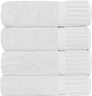 Chakir Turkish Linens Luxury Hotel & Spa Turkish Cotton Piano (White, Bath Towel-Set of 4)