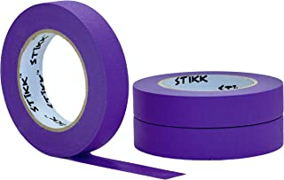 """3 Pack 1"""" inch x 60yd STIKK Purple Painters Tape 14 Day Easy Removal Trim Edge Finishing Decorative Marking Masking Tape..."""