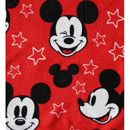 Mickey 8 Pictures 60 x 40 Disney Mickey Mouse Throw Blanket 100/% Fleece for Boys