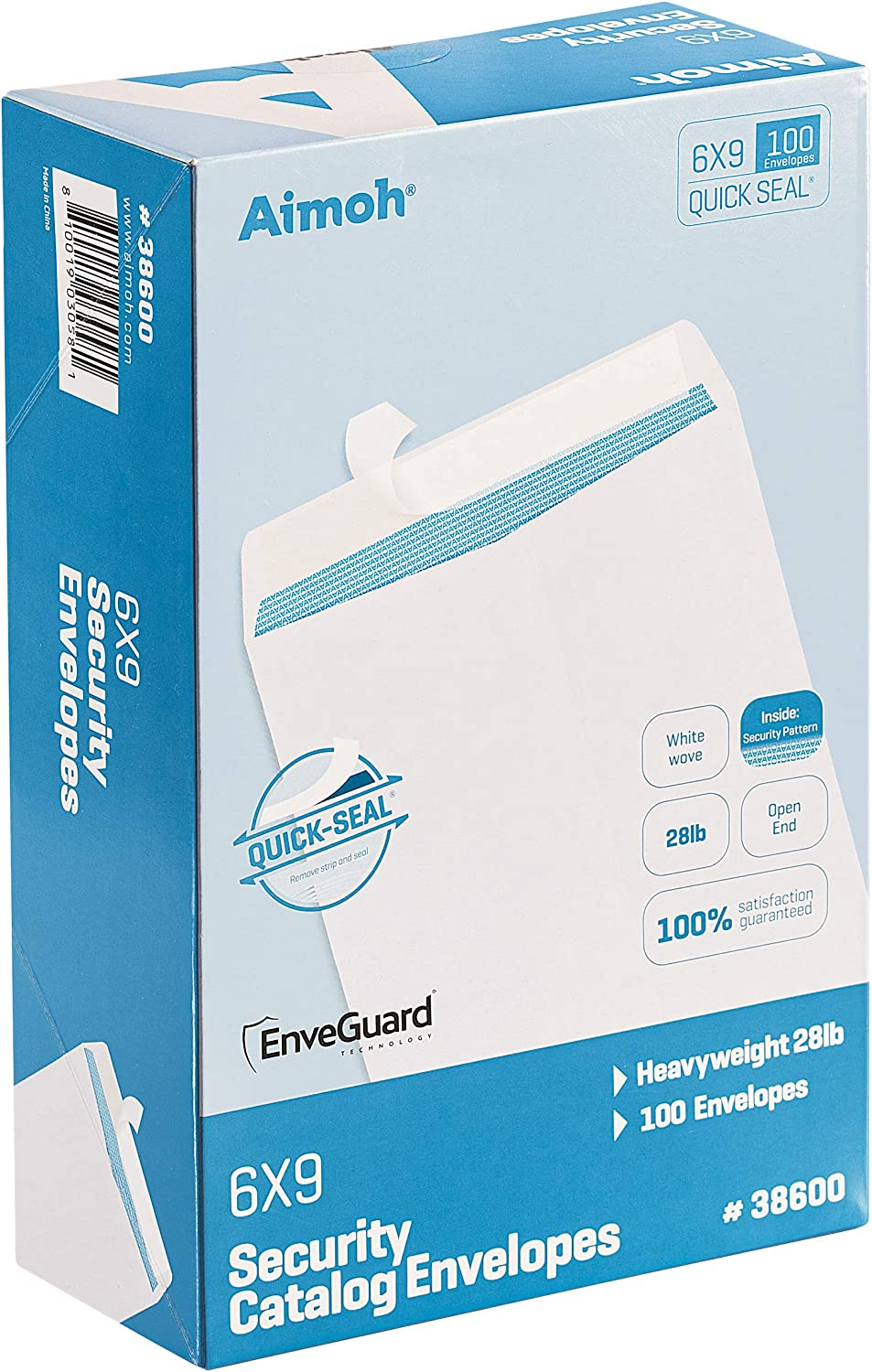 100 half 6 Year-end annual account x 9 Self-Seal Security Envelopes White Catalog - 28lb