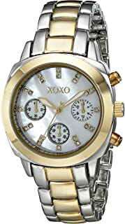 XOXO Womens Quartz Watch, Analog Display and Stainless Stell Strap - XO5567