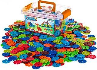 Creative Kids Flakes - 600 Piece Interlocking Plastic Disc Set for Fun, Creative Building - Educational STEM Construction ...