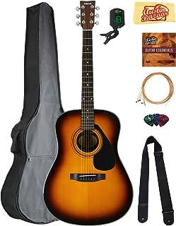 Yamaha F325D Dreadnought Acoustic Guitar - Tobacco Sunburst Bundle with Gig Bag, Tuner, Strings, Strap, Picks, Austin Bazaar Instructional DVD, and Polishing Cloth