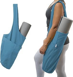 Yogiii Yoga Mat Bag   The Original YogiiiTote   Yoga Mat Tote Sling Carrier with Large Side Pocket & Zipper Pocket   Fits Most Size Mats