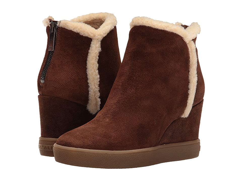 Aquatalia Charlie (Chestnut Pebbled Suede) Women