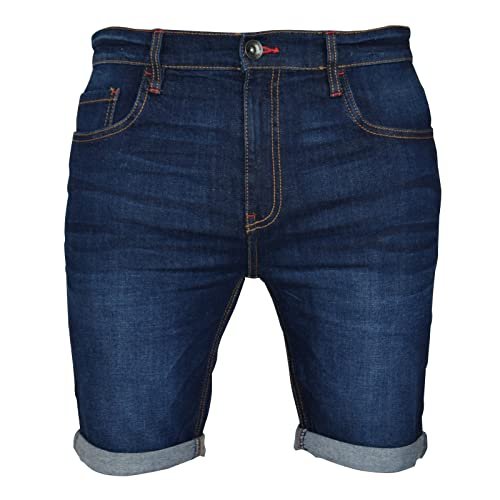 09b9b40f77 Mens Stretch Denim Chino Shorts Super Spandex Skinny Slim Summer Half Pant  Cargo Jeans Bottom