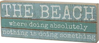 Primitives by Kathy Slat Wood Box Sign, 16 x 6-Inches, The Beach