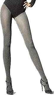 Knittex Stella Blickdichte Warme Damen Strumpfhose Pantyhose Stockings 3D Microfaser 200 DEN Meliert Grau Schwarz Melange