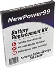 NewPower99 Battery Replacement Kit for Samsung GALAXY S6 Edge SM-G925V with Video Installation DVD, Installation Tools, and Extended Life Battery