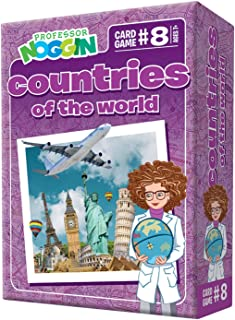 Professor Noggin's Countries of The World Trivia Card Game - an Educational Trivia Based Card Game for Kids - Trivia, True...