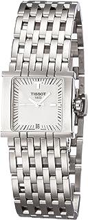 ساعة تي تريند سيكس تي بقرص فضي وسوار ستانلس ستيل للنساء ، T02118181من تيسوت