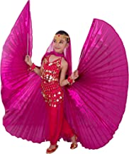 MUNAFIE Halloween Costumes Belly Dance Isis Wings for Children Kids