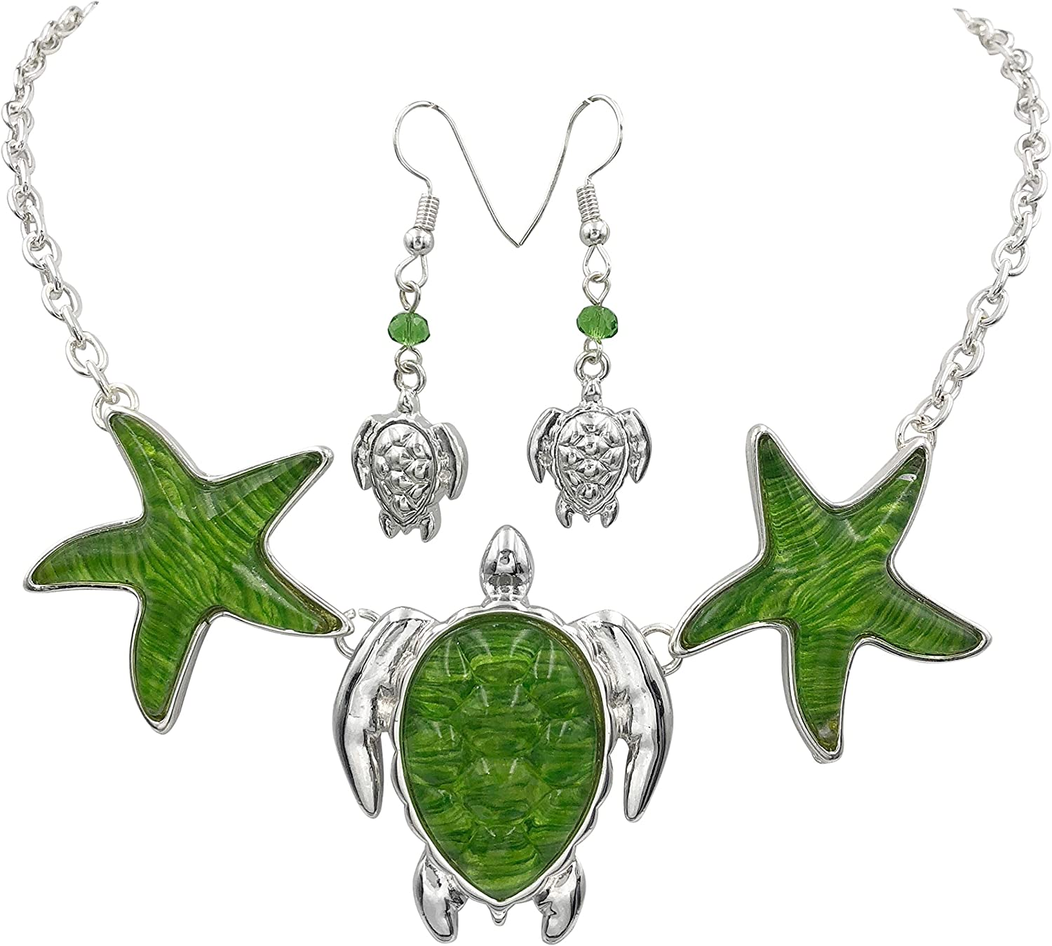 Gypsy Jewels Nautical Boutique Style Statement Necklace & Earrings Set
