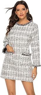 Best long sleeve tweed dress Reviews