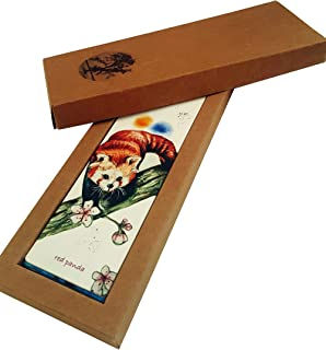 Endangered Species Bookmark Set 12 Pack - Bookmark Kit with Craft Box - Inspirational Gift Idea for Women, Men, Kids, Students and Teachers - Animal Bookmark Owl, Panda, Penguin, Fox and Bear