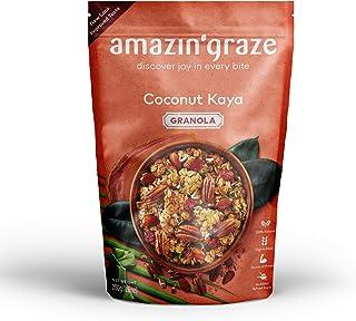 Amazin' Graze Coconut Kaya Granola - Asian's Delight Granola Cereal with Superfoods Ingredients, Coconut Sugar, Pandan Lea...