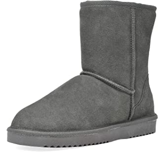DREAM PAIRS Women's Suede Leather Sheepskin Insole Winter Boots