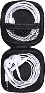 Headphones Case, Portable Storage Bags Travel Carrying Case for Bluetooth Wireless Headphones, Cords, Cable, iPhones Earbuds, Charger, Airpods, USB Flash Driver, MP3(Square)