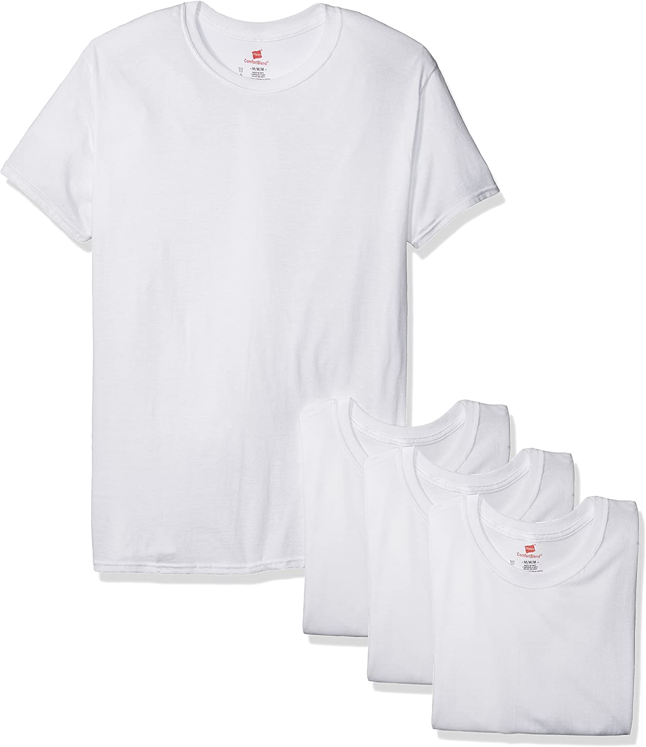 Max 48% OFF Hanes Men's 3-Pack Tampa Mall Comfortblend Freshiq Undershirt with Crewneck