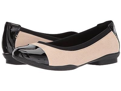 Clarks Neenah Garden (Blush Pink/black Patent leather) Women