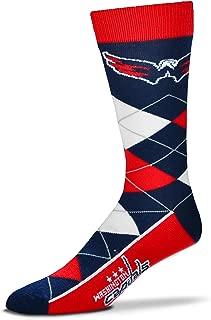 Men's NHL Argyle Lineup Crew Dress Socks-One Size Fits Most