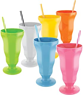 plastic soda fountain cups