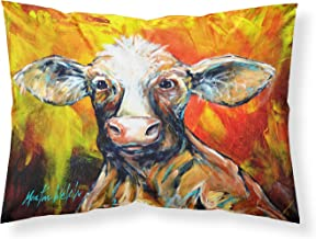 Caroline's Treasures Another Happy Cow Fabric Standard Pillowcase MW1225PILLOWCASE Multicolor, Multicolor, Standard