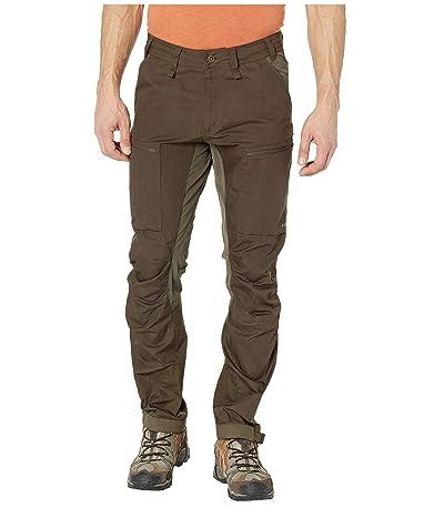 Fjallraven Abisko Lite Trekking Trousers (Dark Olive/Dark Olive) Men