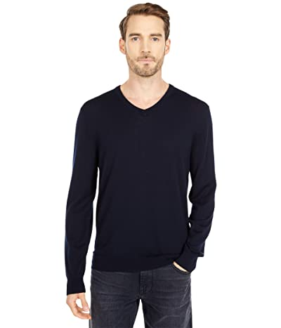 J.Crew Xinao Merino V-Neck (Indigo Sea) Men