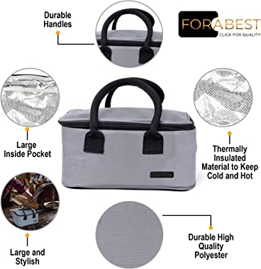 Electric Lunch Box Food Heater - FORABEST 2-In-1 Portable Food Warmer Lunch Box for Car & Home – Leak proof, 2 Compartmen