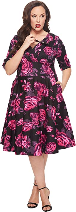 Unique Vintage - Plus Size Delores Dress